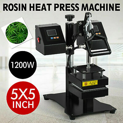 High Pressure Rosin Heat Press Machine Digital Dual Heating Elements Swing Away