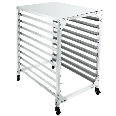 Bun Pan Rack Bakery Rack 10-tier Aluminum Kitchen Bakery Cooling Rack W Cover
