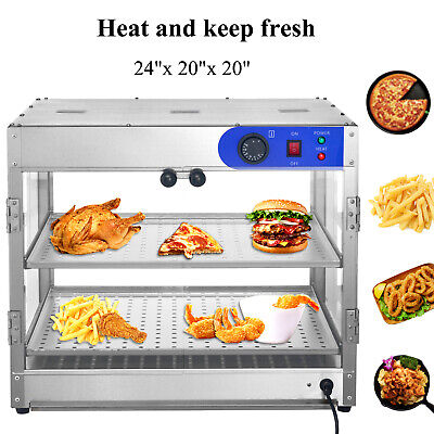 24x20x20 Countertop Commercial Food Pizza Heat Warmer Cabinet Display Case