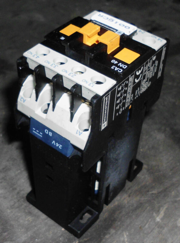 Telemecanique Control Relay, # CA3 DN 40, 24V Coil, Used, WARRANTY