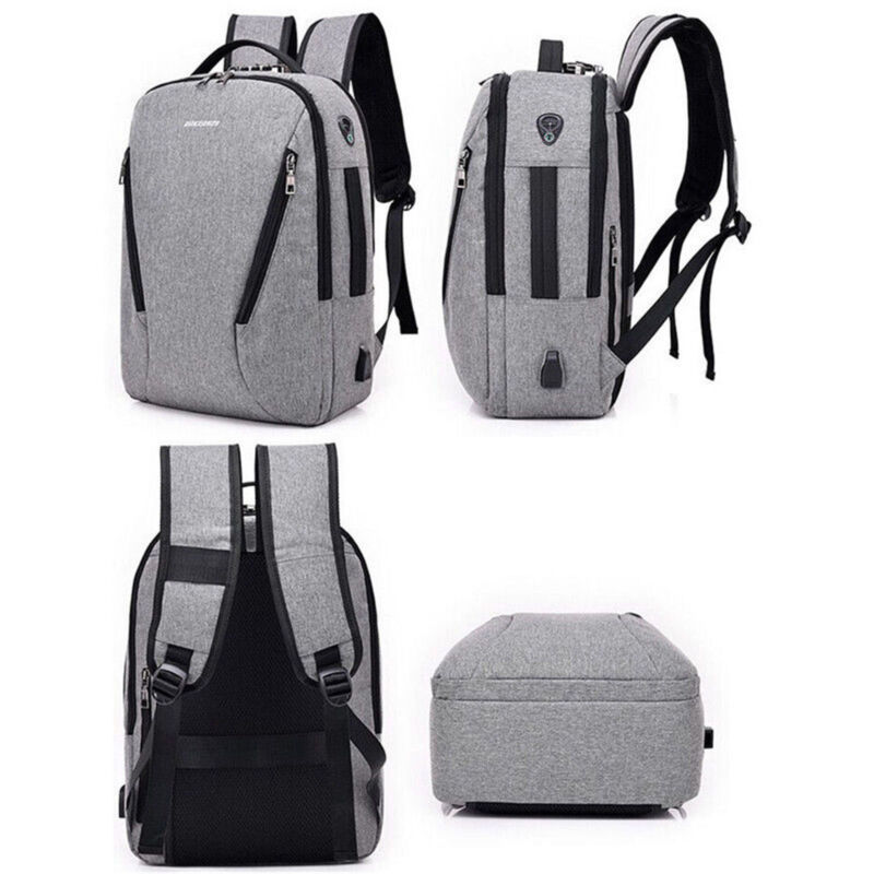 Anti Theft Backpack USB Charging Laptop Notebook