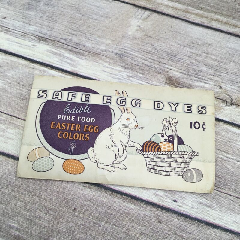 Vintage Egg Dye Company Easter Safe Egg Dye Envelope with Contents Advertising