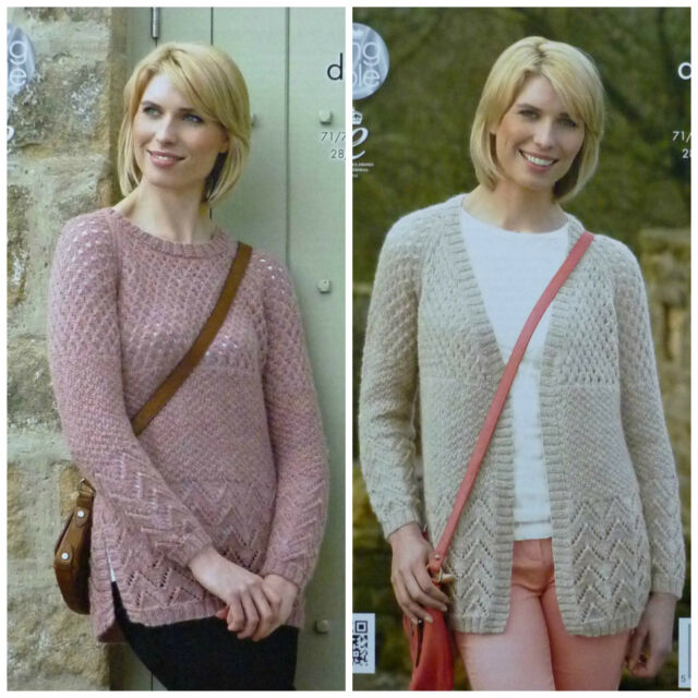 Cardigan Sweater In King Cole Panache Dk Yarn Knitting Pattern