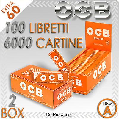 6000 CARTINE OCB ORANGE CORTE - 2 BOX 100 Libretti da 60 - ARANCIO - ARANCIONI