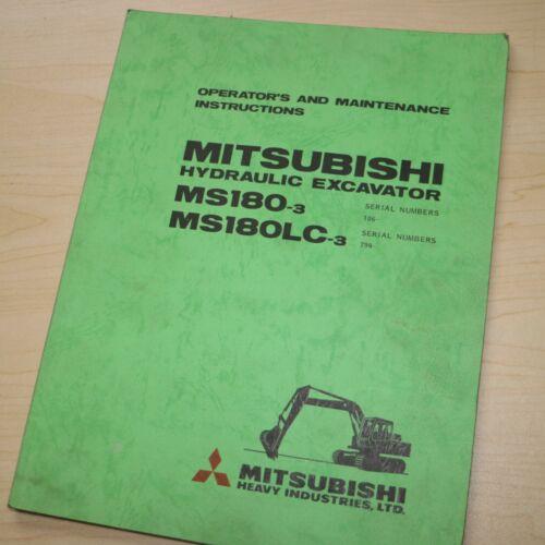 MITSUBISHI MS180-3 Crawler Excavator Owner Operator Operation Manual maintenance