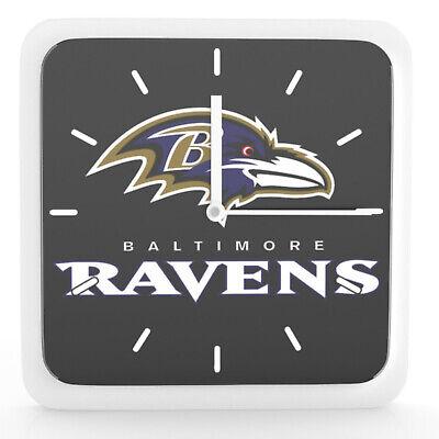 Nfl Baltimore Ravens Home Office Room Decor Wall Desk Clock Magnet 6x6