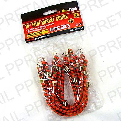 "10 x 10"" MINI SMALL BUNGEE CORDS Short Bike Basket Motorbike Car Elastic Straps"