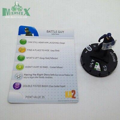 Heroscape Custom Doctor Gravity Dbl Side Card /& Figure w// Sleeve Kick Ass 2 Icon