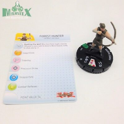 Heroclix Yu-Gi-Oh! Series 2 set Forest Hunter #013 Uncommon figure w/card!