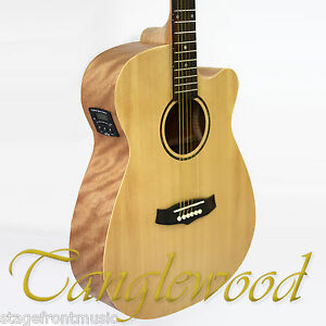 TANGLEWOOD TWR1 SFCE ROADSTER SUPER FOLK CUTAWAY*see video* ELEC/ACOUSTIC GUITAR