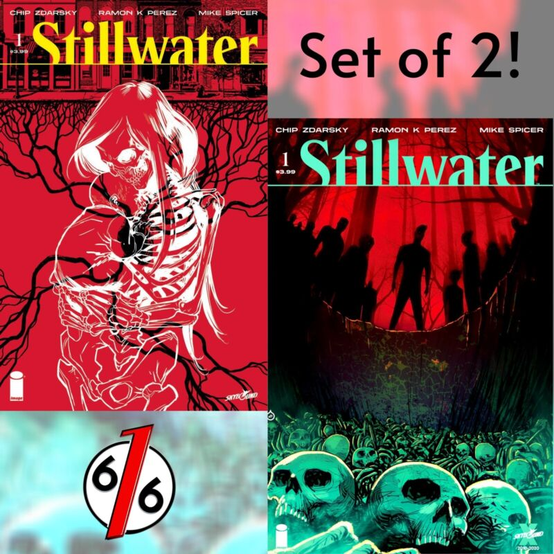 🚨💀😱 STILLWATER #1 SET OF 2 Juan Doe Exclusive Variant & Perez Main Cover NM