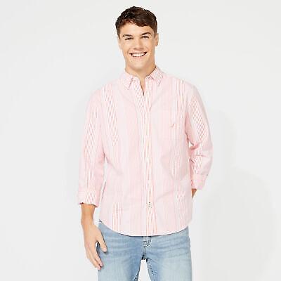 Nautica Mens Classic Fit Seersucker Stripe Shirt