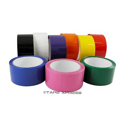 2 X 55 Yd 1 Roll Packing Tape Carton Sealing Several Colors - Free Shipping