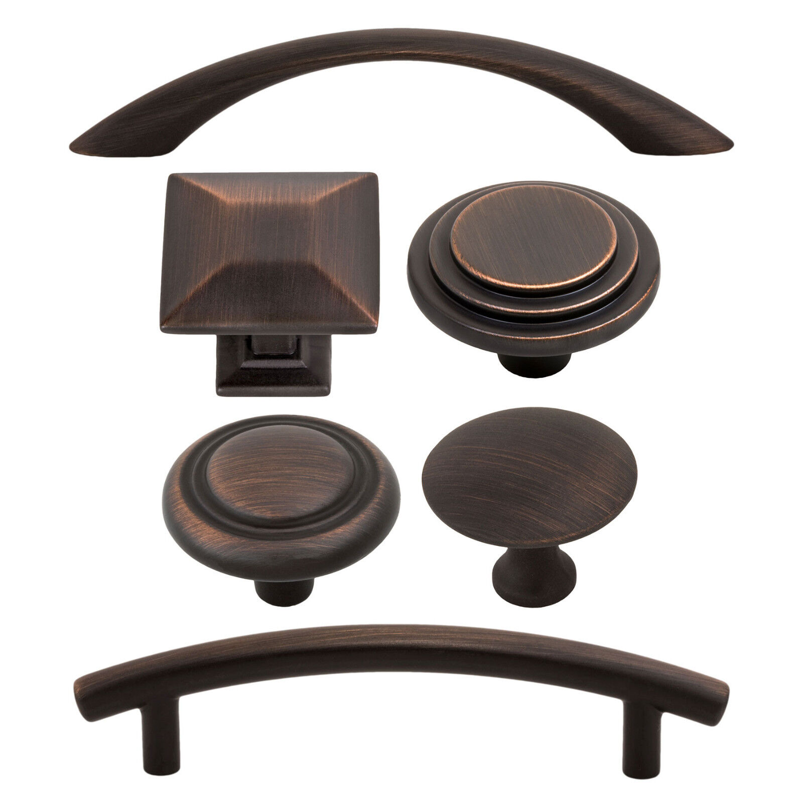 Classic and Modern Kitchen Bath Cabinet Hardware Knobs Pulls, Oil Rubbed Bronze Building & Hardware