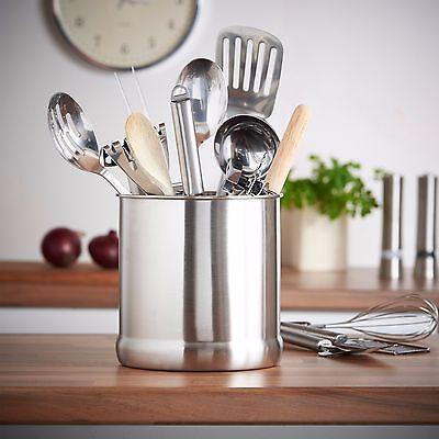 VonShef 7 High Grade Satin Finished Stainless Steel Kitchen Utensil Holder