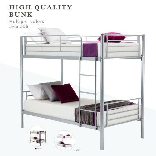 Metal Bunk Beds Frame Twin over Twin Ladder Bedroom Dorm for