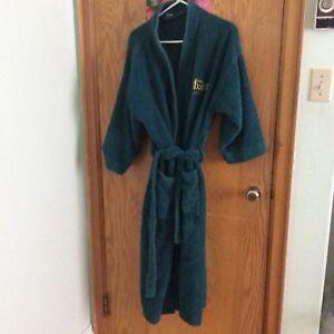 Terry cloth bathrobe