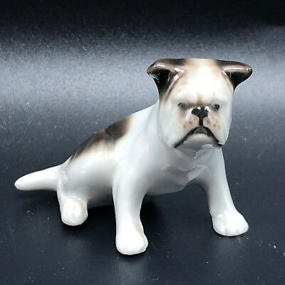 Buy and sell VINTAGE PORCELAIN BULLDOG FIGURINE miniature sculpture English puppy dog spot 2 products