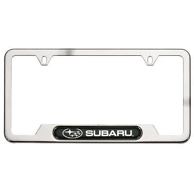 Tribeca Polished Steel - OEM Subaru Polishing Stainless Steel License Plate Frame Fits All NEW SOA342L127