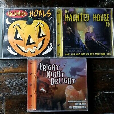Halloween Music CD Lot of 3 CD's Spooky Sound Effects Scary Shows Music](Spooky Scary Halloween Music)