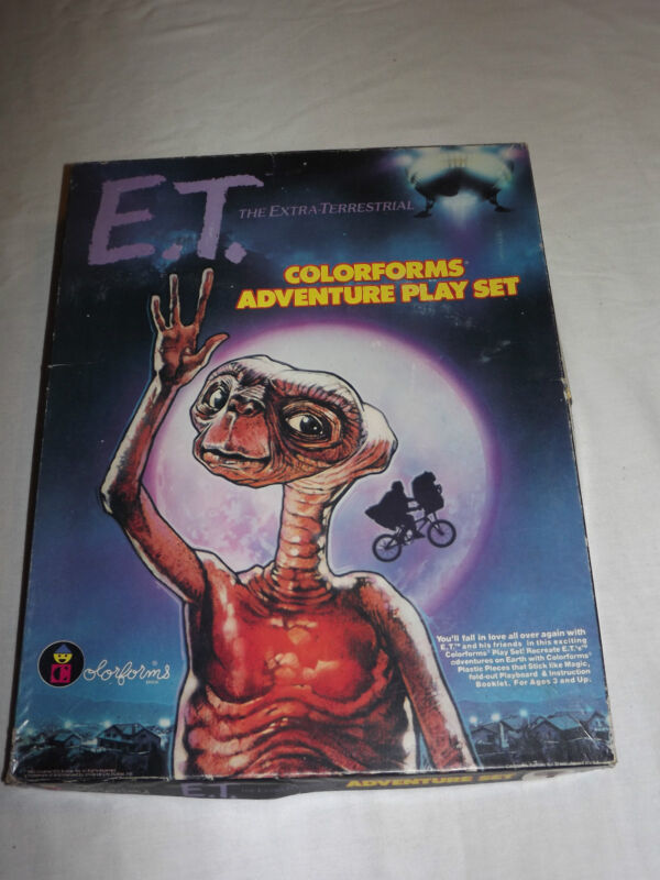 VINTAGE TOY  GAME 1982 COLORFORMS E.T. EXTRA TERRESTRIAL ADVENTURE PLAY SET