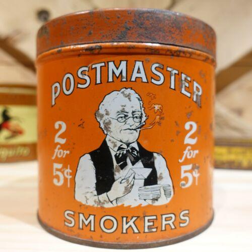 Postmaster Smokers Vintage Factory No. 17 Orange Cigar Tin Can - Swanky Barn