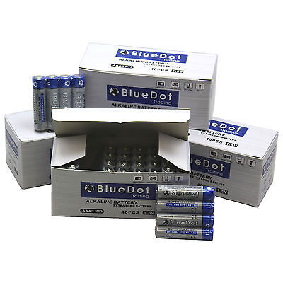 (120 PACK) AAA TRIPLE A HEAVY DUTY BATTERIES BlueDot Alkaline 1.5V ~NEW FREE SH