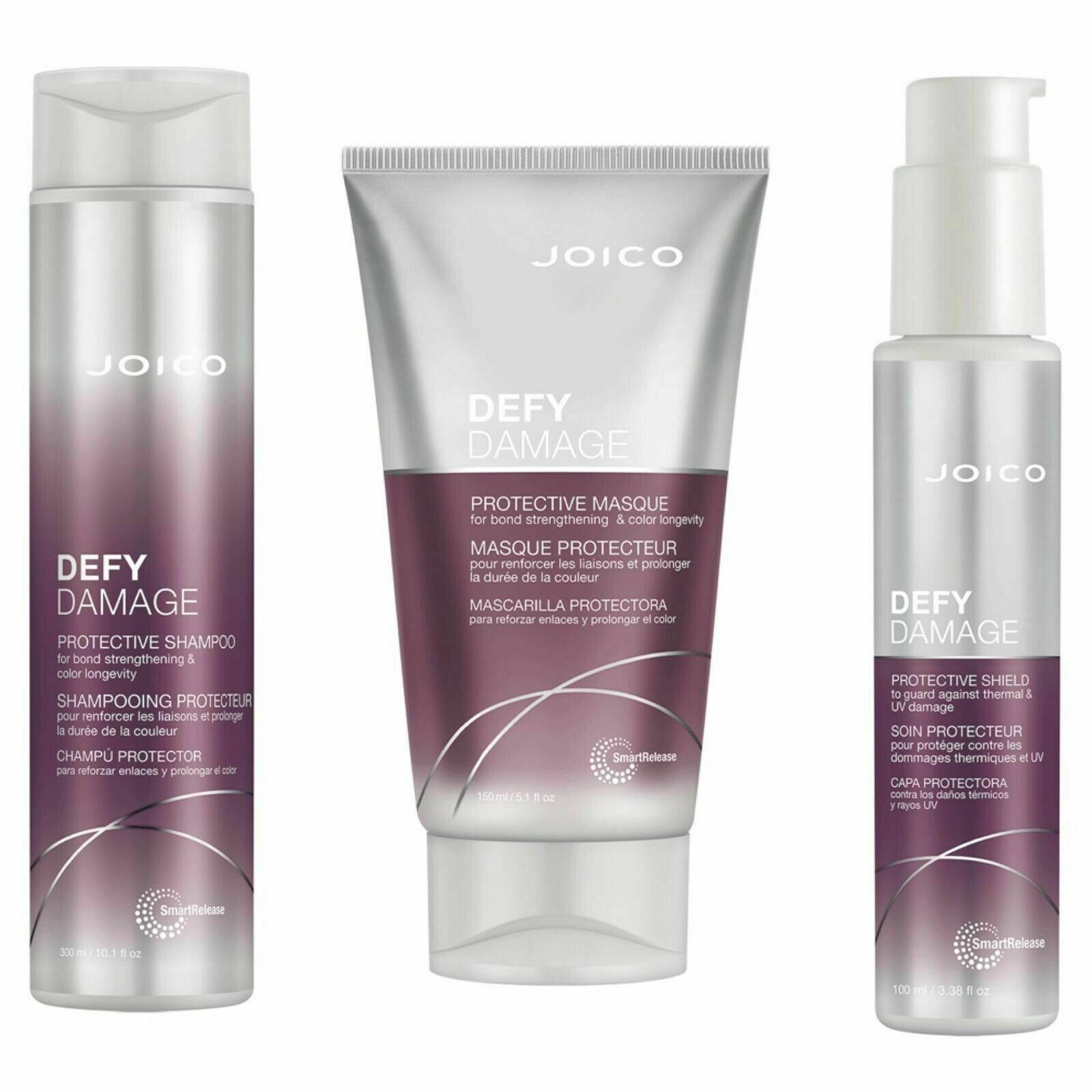 Joico Defy Damage Protective Shampoo, Masque & Thermal Prote