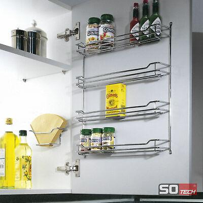 Gewürzregal Küche, Küchen Regal für ca. 12 oder 24 Gewürze, ohne Gewürzdosen
