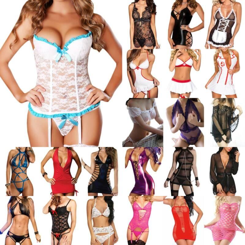 Damen Sexy Verband Tanga Durchsichtig Nachtwäsche Dessous G-String Unterwäsche