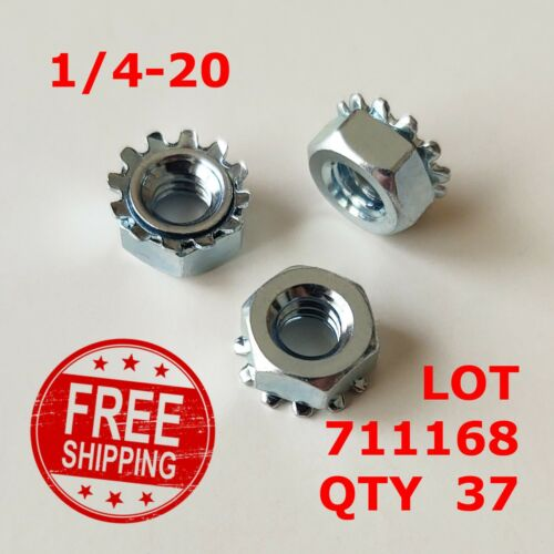 """Star Nut with Ext Tooth Lockwasher Zinc 5//16/""""-18 Coarse KEPS Nut"""