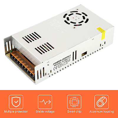 12vdc 30a Regulated Switching Power Adapter Supply 360w Led Strip Light Us Stock