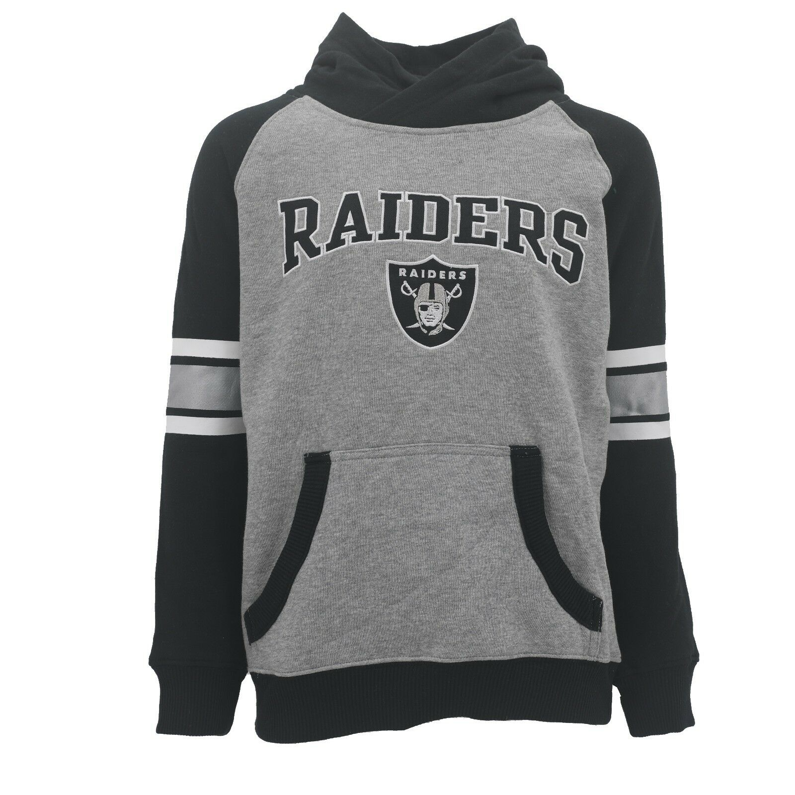Oakland Raiders OuterStuff NFL Youth Girls Long Sleeve Hooded Shirt
