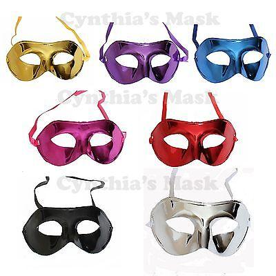 Wholesale 12pcs Venetian Metallic Plastic Mask Masquerade Assorted color NEW - Venetian Masks Wholesale