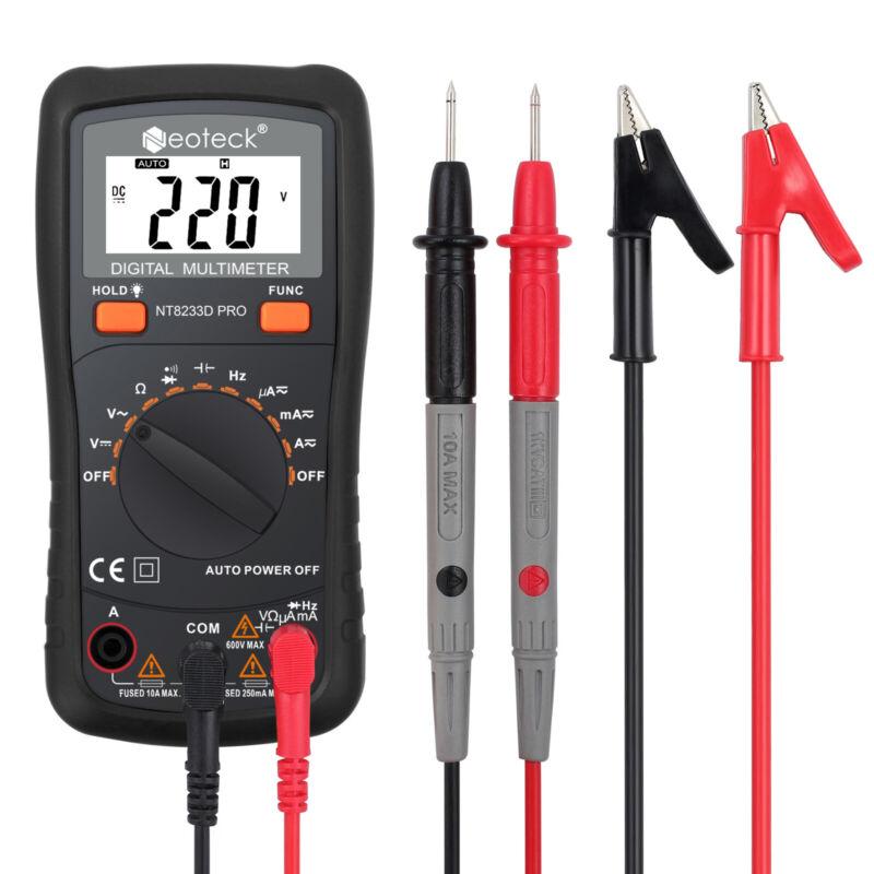 Neoteck Digital Multimeter Voltmeter AC DC Volt Current Tester Auto/Manual Range
