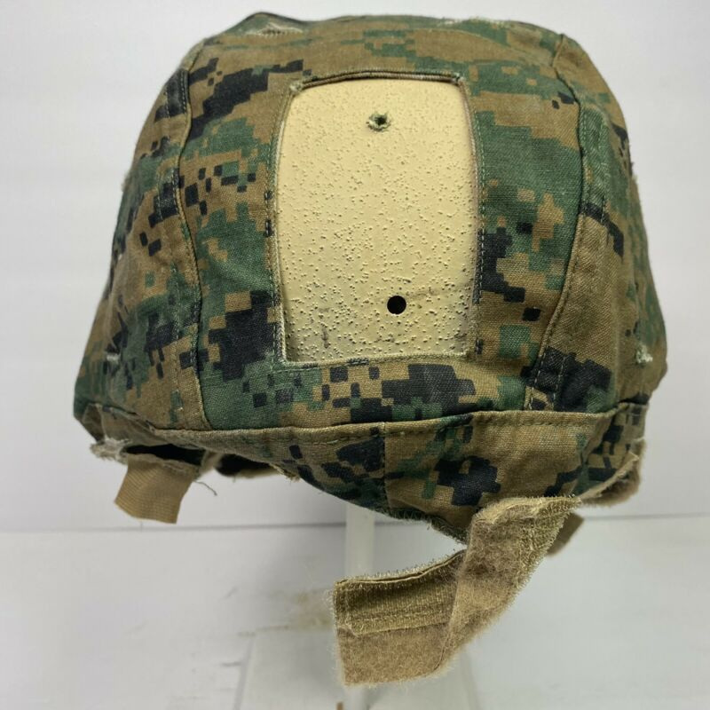 Used Medium USMC ECH Marine Corps Reversible Enhanced Combat Helmet Cover MARPAT