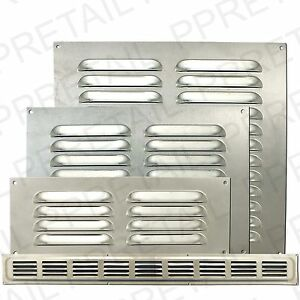 Silver metallouvre air ventssmall large ventilation for Furniture covers air vent