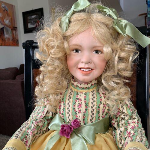 """Gerlinde Stelzer Porcelain Doll Limited Edition 34"""" ( 51 / 500, 2004)"""