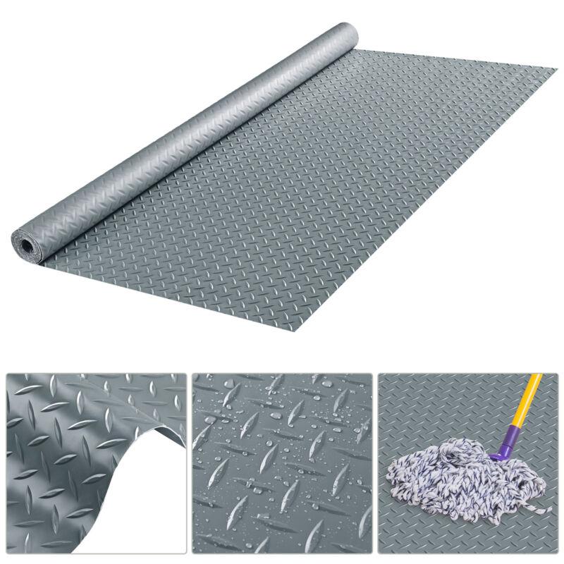 Diamond Plate Gym Floor Mat PVC Roll Garage Golf Cart Truck Bed Flooring