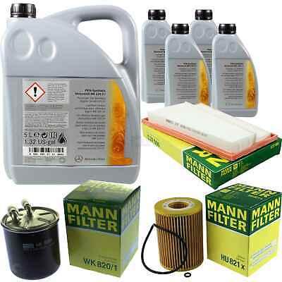 Inspektionspaket 9L Mercedes Öl 229.51 5W30 + MANN Filterpaket 11105847