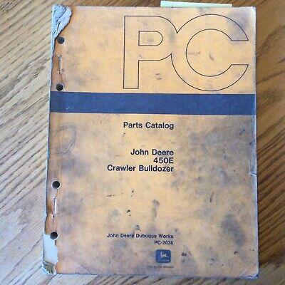 John Deere Jd 450e Parts Manual Catalog Book List Crawler Bulldozer Guide Pc2036