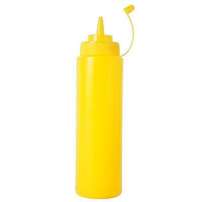 Plastic Squeeze Bottles Condiment Dispenser Ketchup Mustard Sauce - Yellow 8OZ - Ketchup Squeeze Dispenser