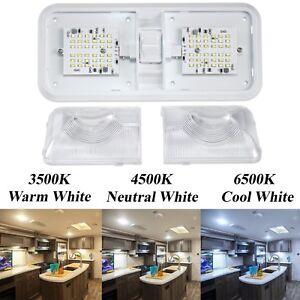 12 volt rv light fixture ebay 12 Volt Light Fixtures Decorative rv led 12v ceiling fixture multi double dome light for camper trailer rv marine