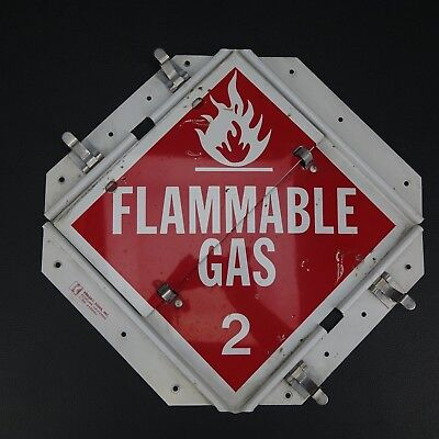 Industrial Man Cave Hazmat Flip Sign Flammable Gas Radioactive Dangerous 2
