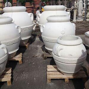 Orcio anfora in cemento e marmo varie misure vaso vasi for Anfora giardino