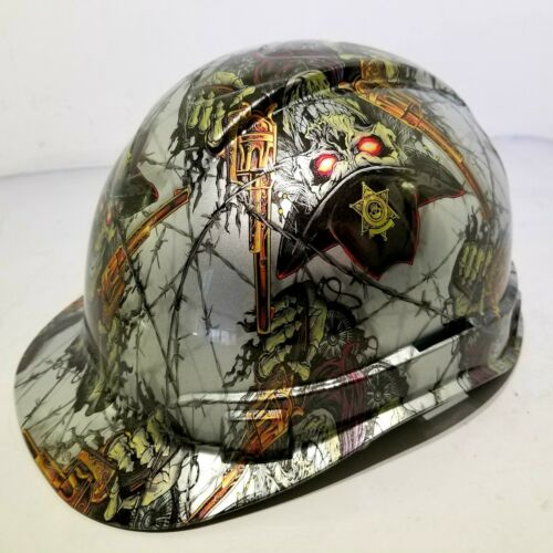 Hard Hat custom hydro dipped , OSHA approved DIRTY DIRTY HARRY OLD WEST NEW 2