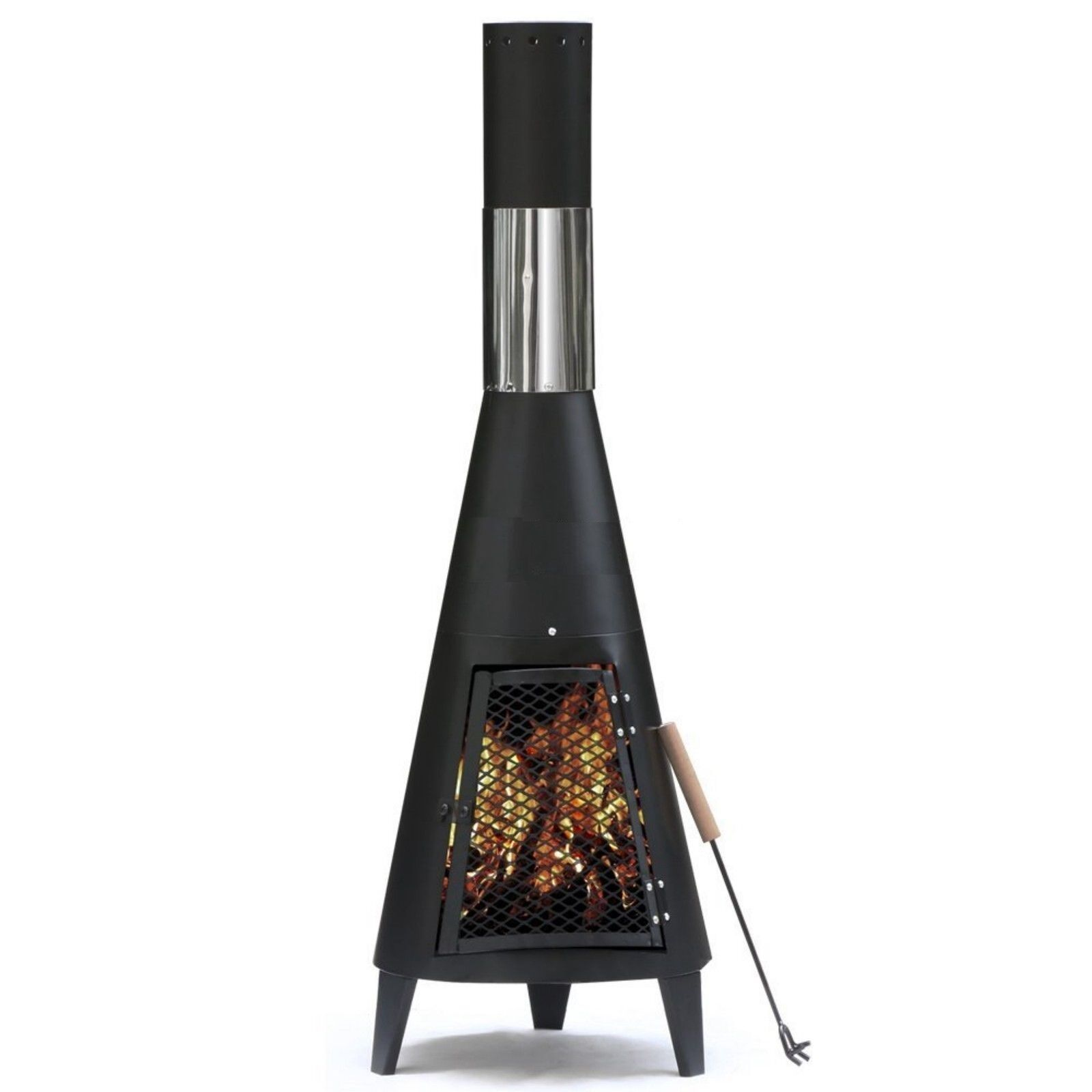 Chiminea Burner: GARDEN STEEL CHIMENEA Chimnea Chiminea Patio Heater Fire