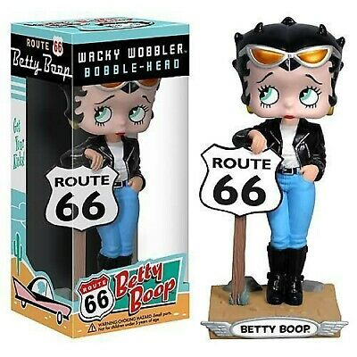 Betty Boop Route 66 Leather Jacket & Jeans Funko Wacky Wobbler Bobblehead