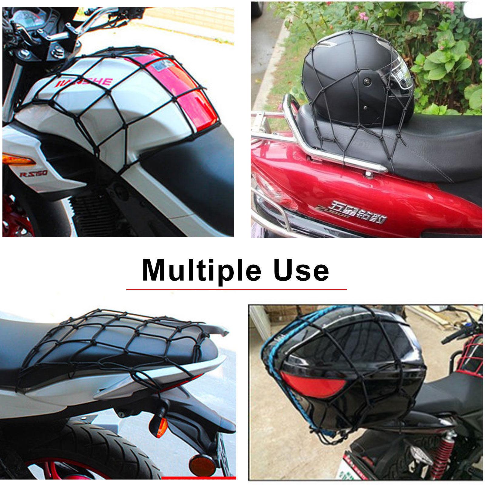 Cargo Net Bike Motorcycle Helmet Mesh Net Luggage Tie Down Bungee Cord Stretch