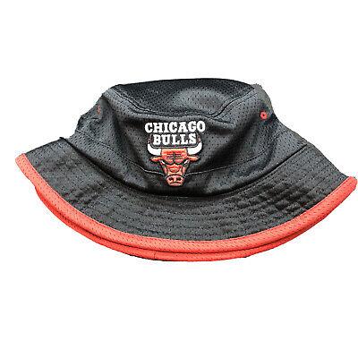 Rare Mitchell & Ness Chicago Bulls Black & Red Reversible Mesh Bucket Hat